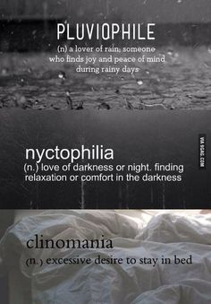 Pluviophile Nyctophilia Google Search Unusual Words Weird