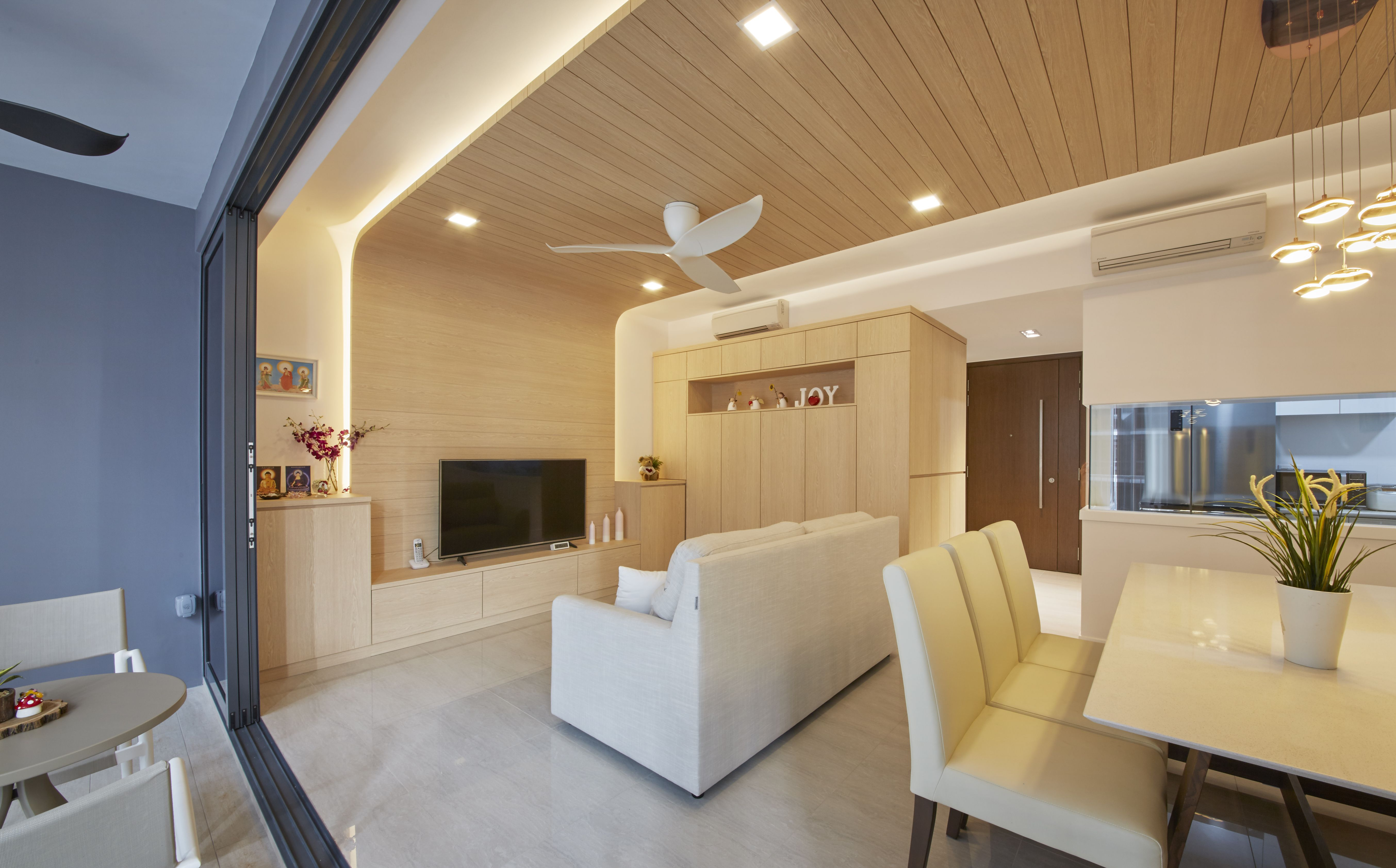 Featured Wall Singapore Interior Design Carpenters Condominium Design Interior Design Singapore Scandinavian Design Living Room