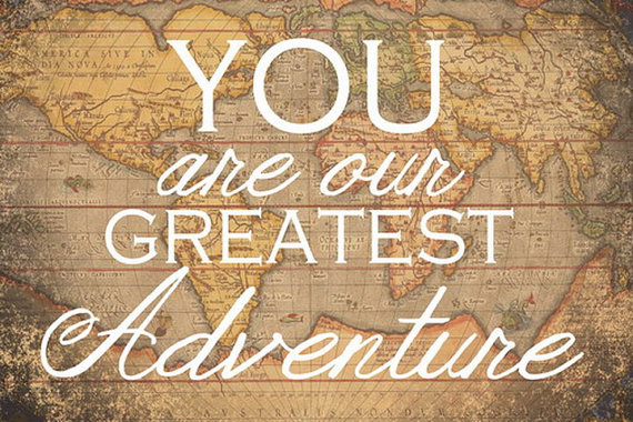 You are Our Greatest Adventure Vintage Map Print by SSDdesign
