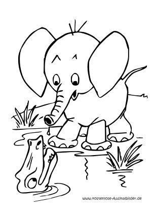 ausmalbild elefant zum kostenlosen ausdrucken und ausmalen