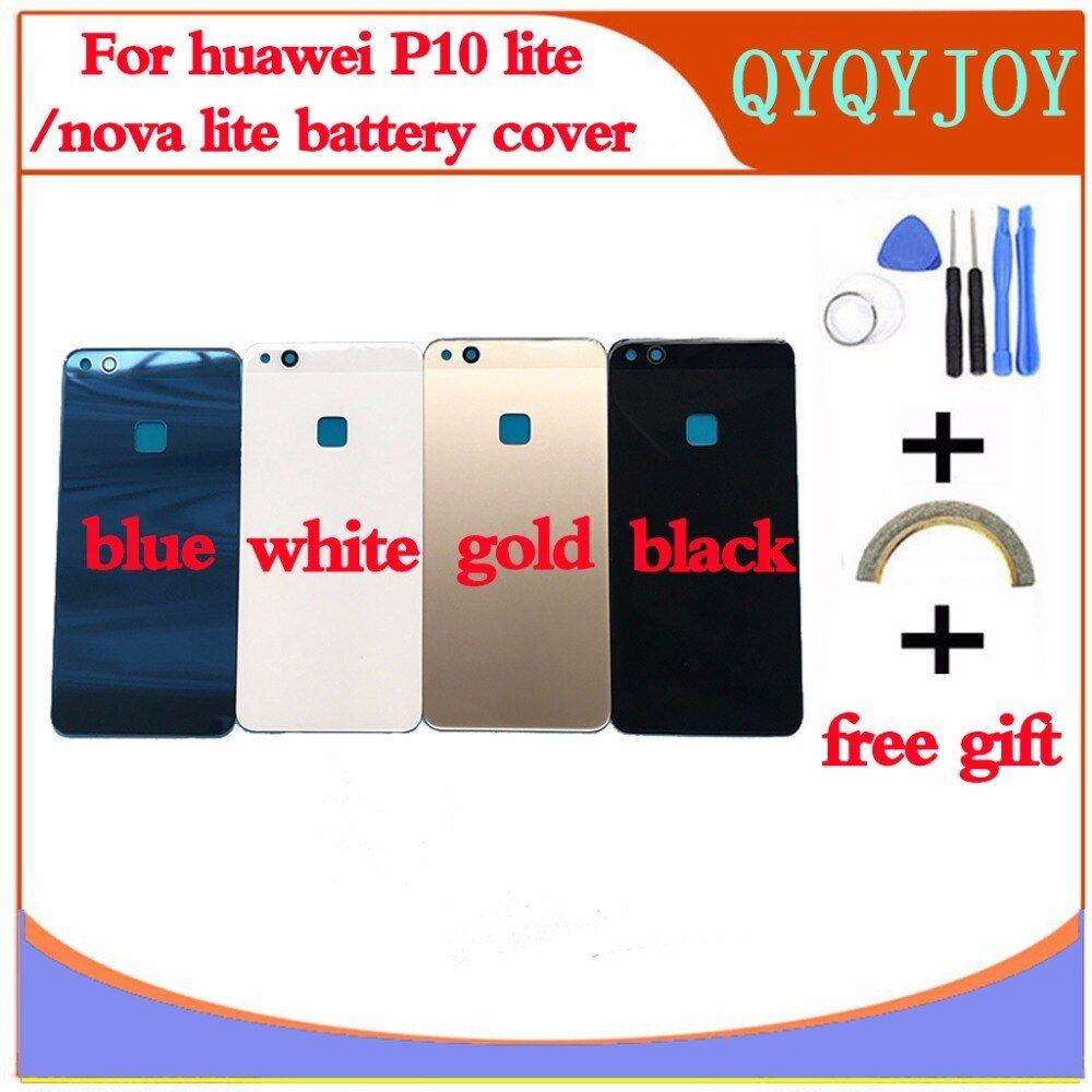 Glass Rear Housing Cover For Huawei P10 Lite Nova Lite Back Door Replcement Battery Case Adhesive Sticker Glass Battery Battery Cases Phone Case Cover Huawei