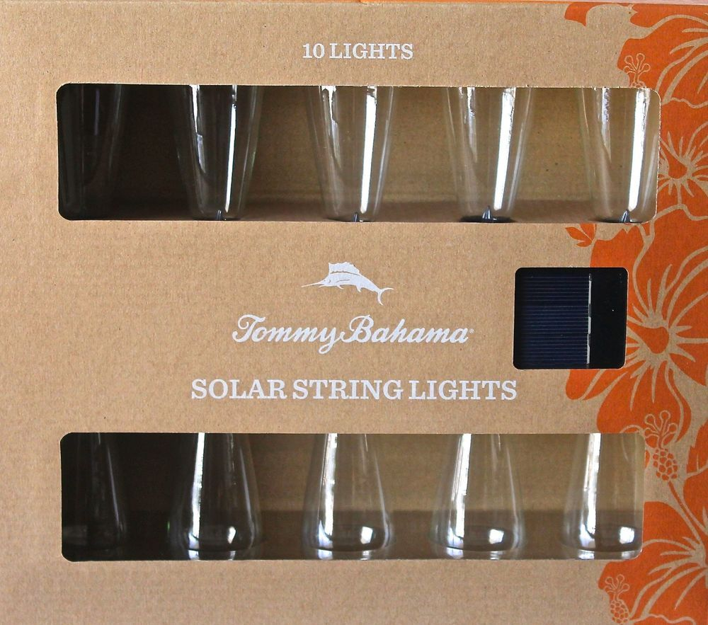 Test Solar Verlichting Tommy Bahama Solar String Lights 10 Lights Per New In Box Outdoor