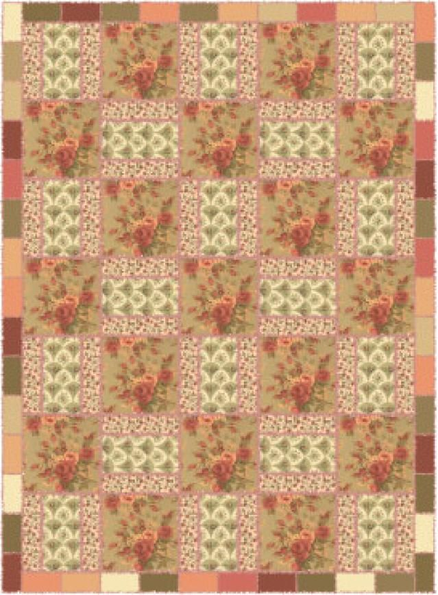 Use Florals or Any Fabrics You Love to Sew this Easy Rag Quilt ... : easy rag quilt patterns - Adamdwight.com