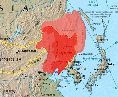 Greater Manchuria Russian Outer Manchuria Is The Lighter Red