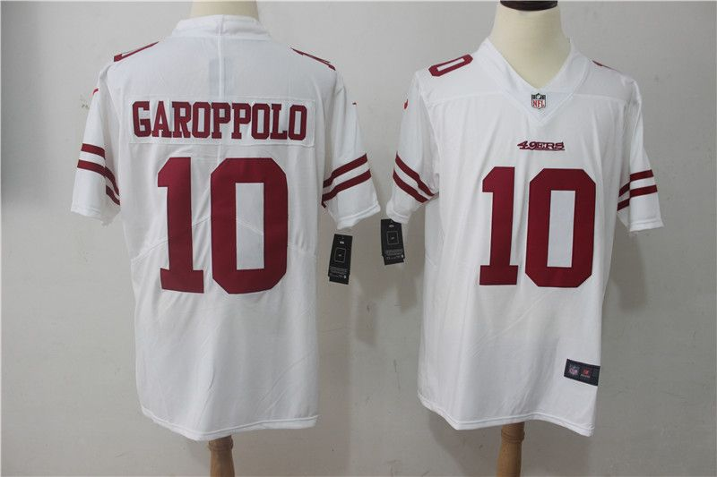 Men San Francisco 49ers 10 Garoppolo White Nike Vapor Untouchable Limited  NFL Jerseys Nfl 49ers 86dcef48d