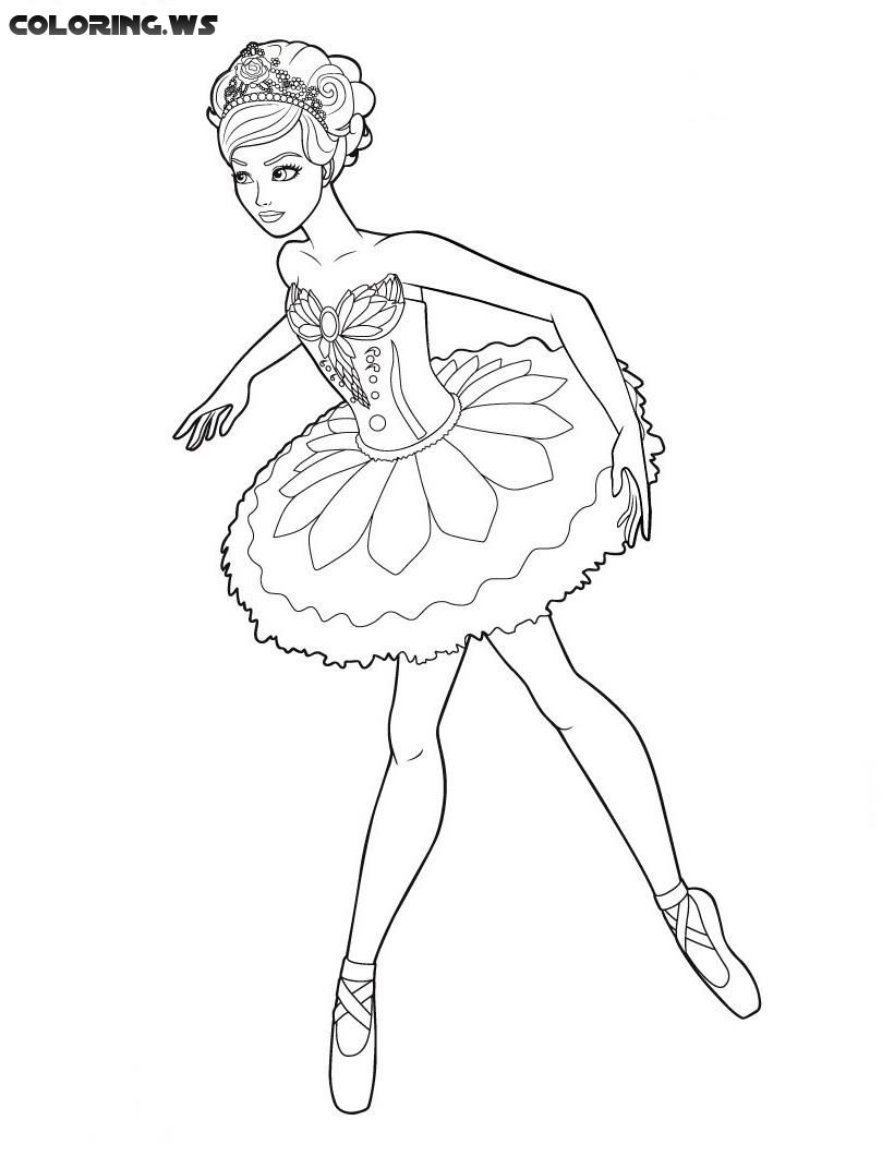 Ballerina 08 Ballerina Coloring Pages In The Fashion World