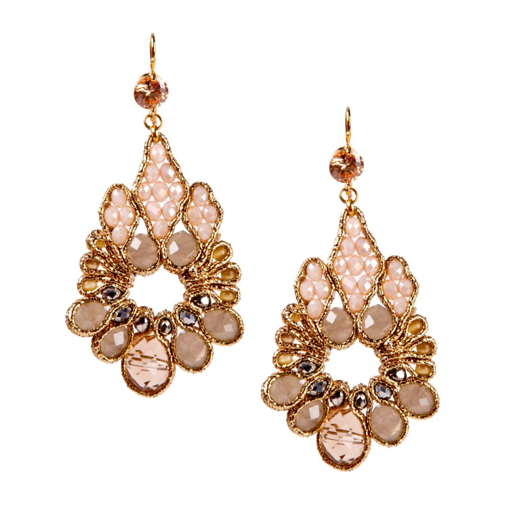 MLA - Margaret Lavish Accessories - Gold And Crystal Rain Puddle Earrings, $48.00 (http://margaretlavish.com/earrings/gold-and-crystal-rain-puddle-earrings/)