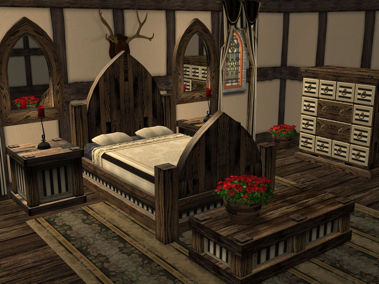 Medieval bedrooms - Parsimonious The Sims 2 Furniture Objects