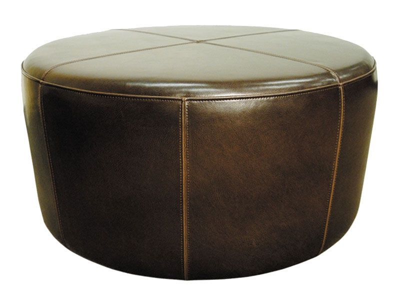 Wheel Ottoman By Cort Beautiful Brown Leather Perfect As An