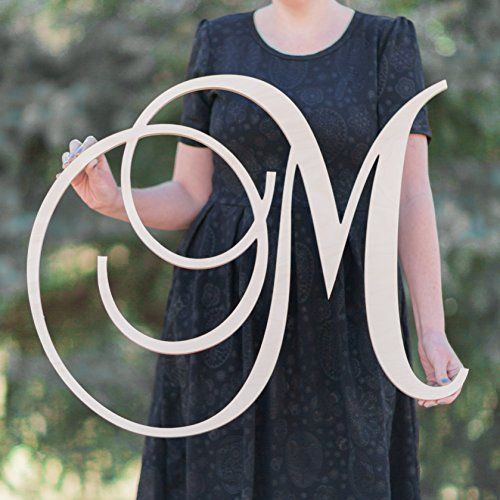 SALE 1236 inch tall Single Letter Curved Font Wooden Monogram Vine Room Decor Nursery Decor Wooden Monogram Wall Art Large Wood monogram wall hanging wood LARGE * Be sure to check out this awesome product.Note:It is affiliate link to Amazon.