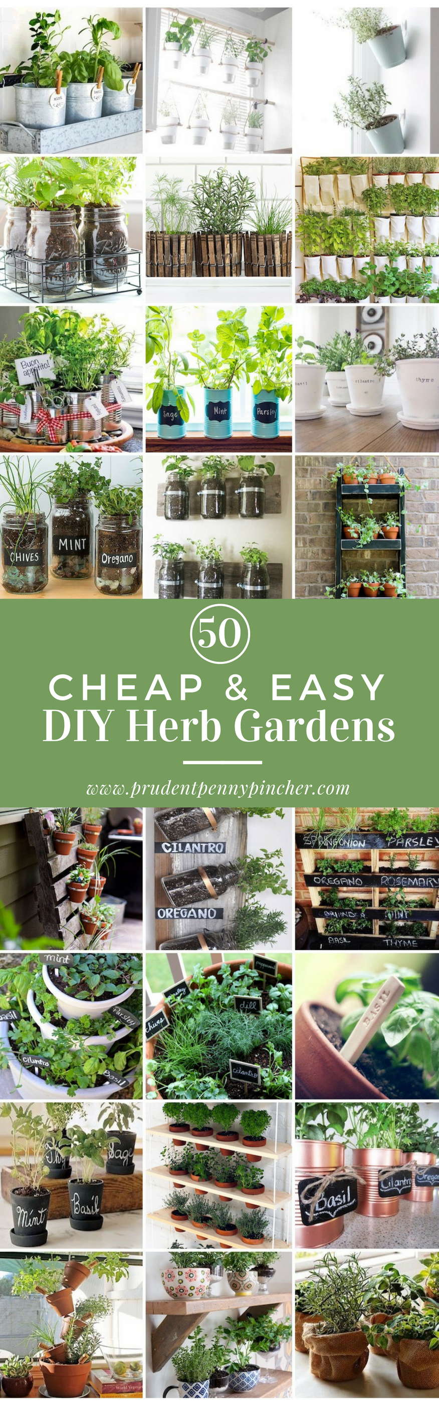 50 Cheap and Easy DIY Herb Garden Ideas #smallgardenideas