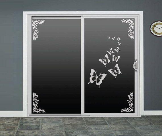Charming Butterfly Glass Door Decals Sliding Door Decal By RoomsByAngie, $85.00
