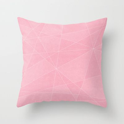 Geometric Pink Throw Pillow by Lindsay Erin Pasichnyk - $20.00