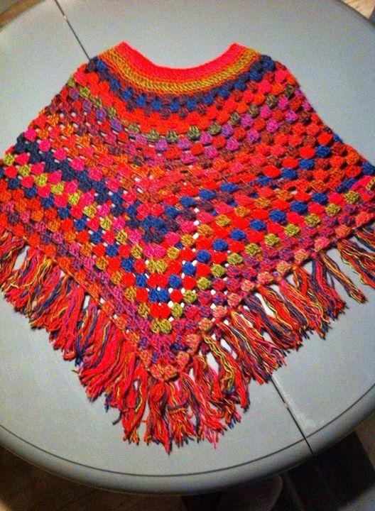 Fenna wol een gehaakte poncho