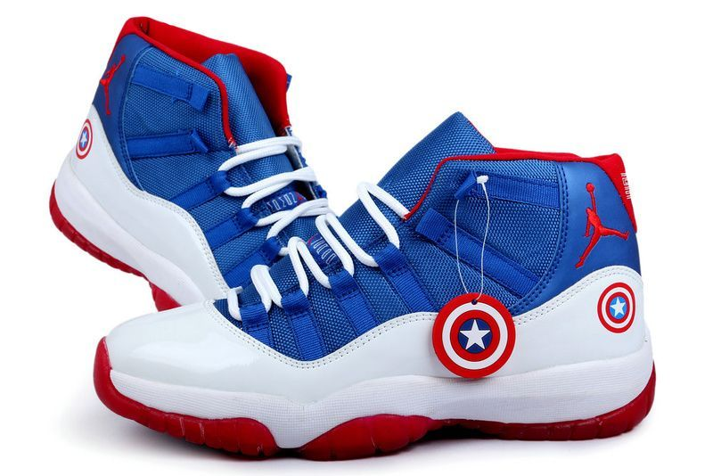 Buy Air Jordan 11 US Sale Captain America Blue White Red Cheap To Buy from  Reliable Air Jordan 11 US Sale Captain America Blue White Red Cheap To Buy  ...