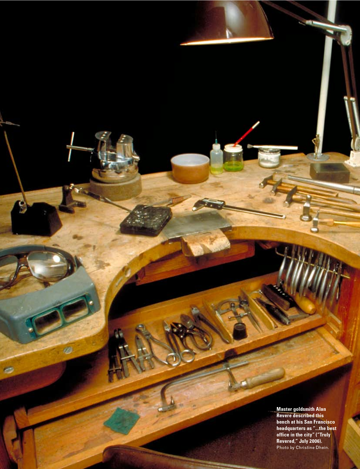 Jewelers bench | Jewelry tools organization, Jewellers ...