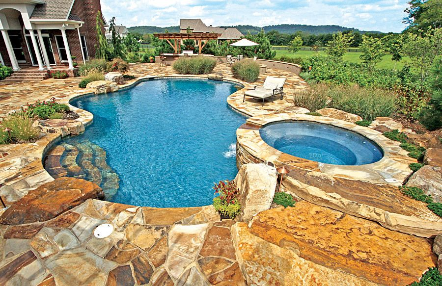 Free Form Pool Ideas Backyard pool landscaping, Pool