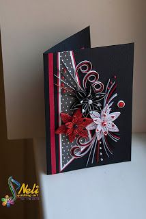 Neli quilling art fantasy in white red and black paper patterns also rh pinterest