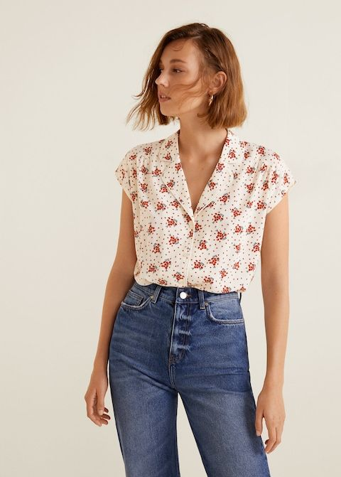 18d72940fc Blusa cuello solapa - Camisas de Mujer en 2019