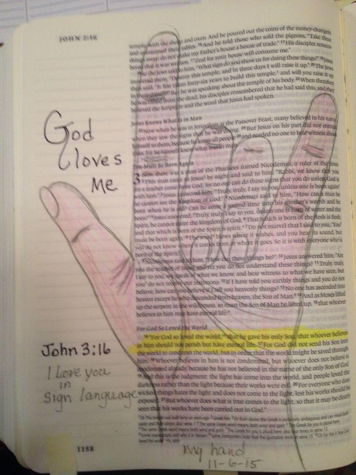 sign language god loves you
