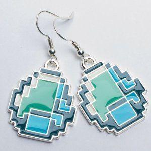 Earrings - Minecraft - Diamond