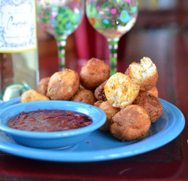 Jalapeno & Cheddar Hush Puppies Recipe Food drink
