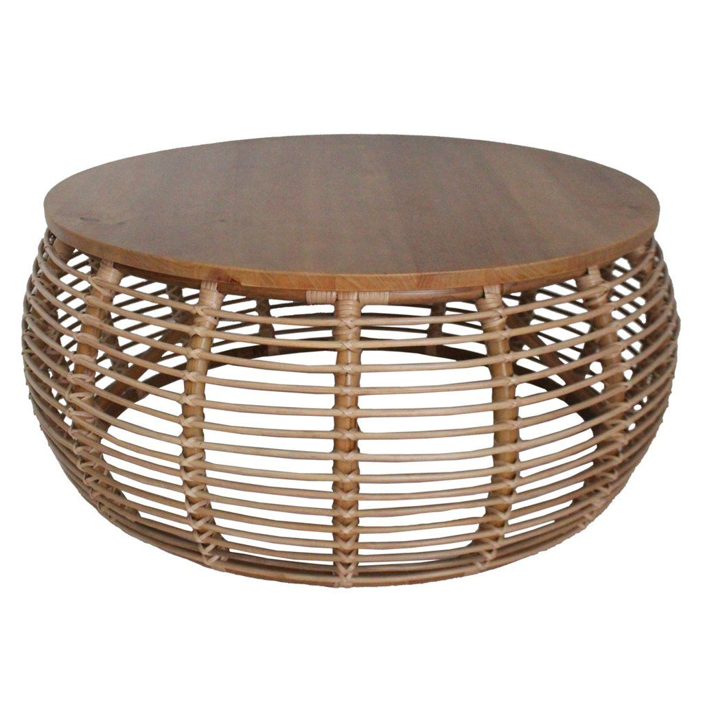 Iris Rattan Round Coffee Table By New Pacific Direct 4900018