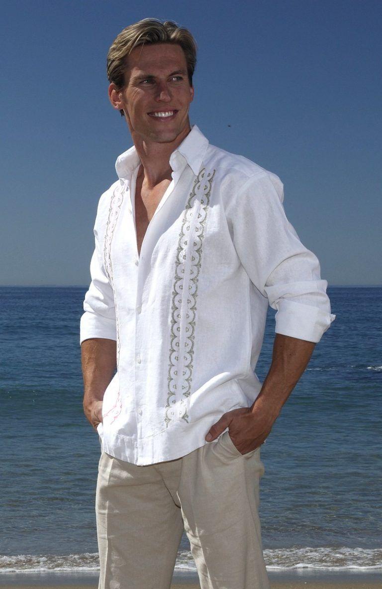 Colima Relaxed Fit Italian Linen Stock Shirt with regard to Wedding Tropics – Party Supplies Ideas Para se adequar ao seu sabor traje casual gris.