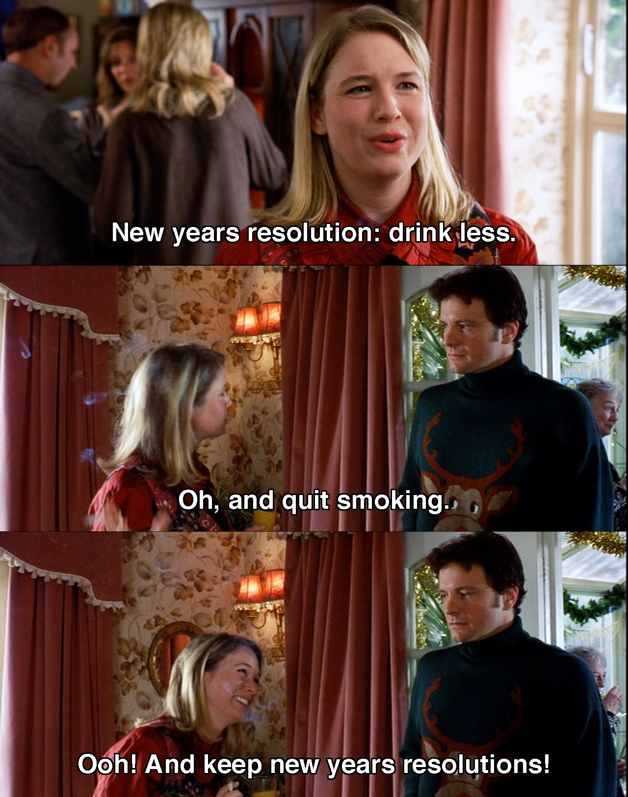 new years resolution drink less bridget joness diary 2001 movie quotes