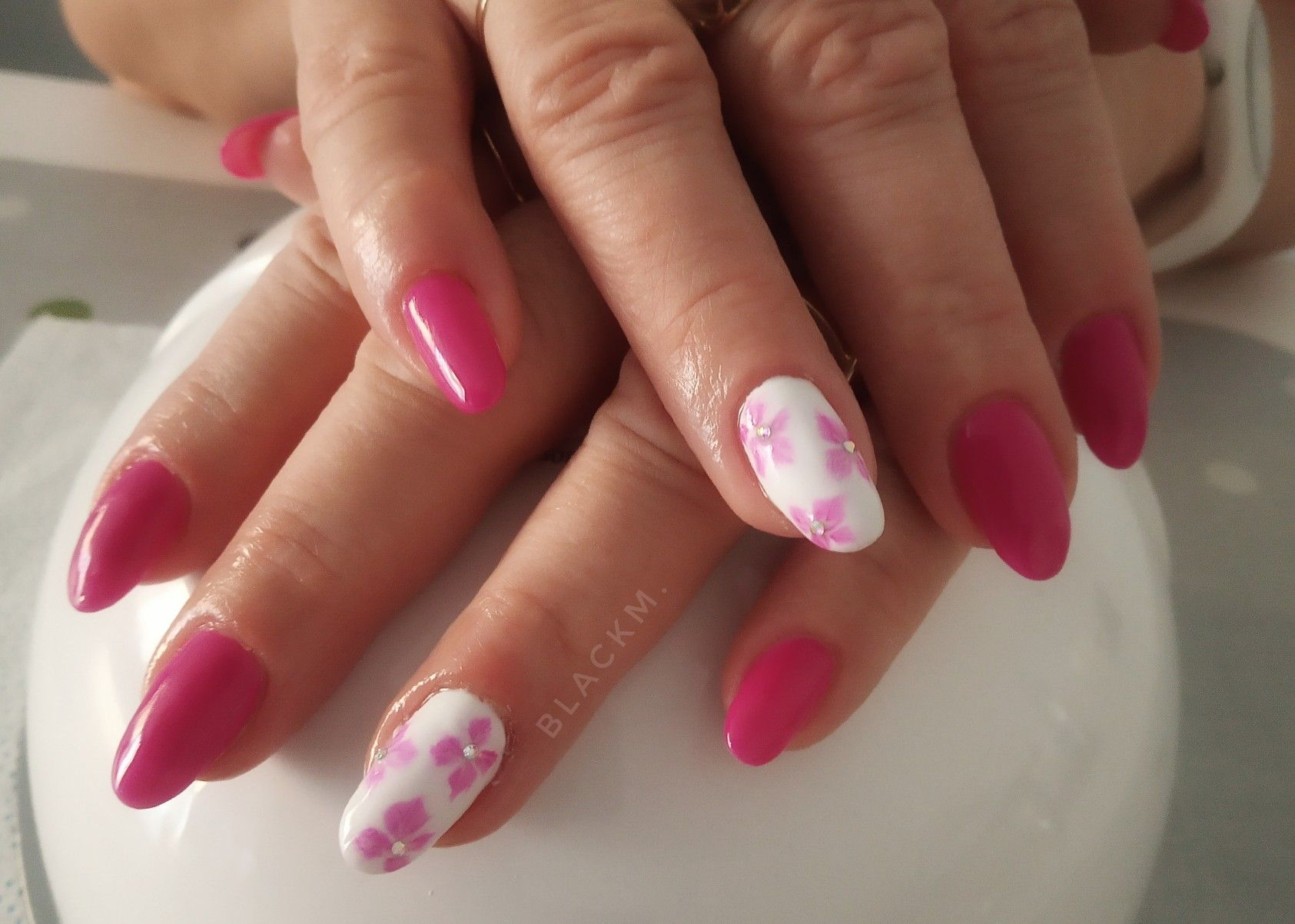 Aquarelle Nails Semilac Pink Nails Pink Flowers