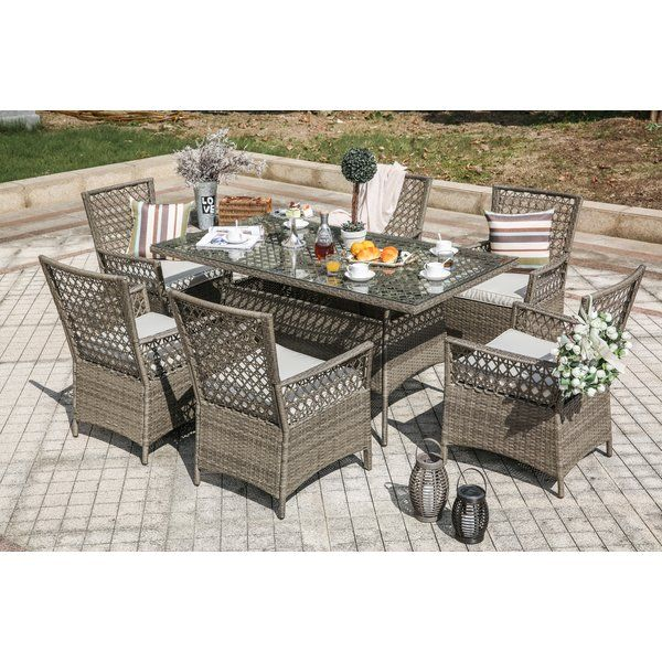 Horvath 7 Piece Dining Set with Cushions & Reviews | Joss ...