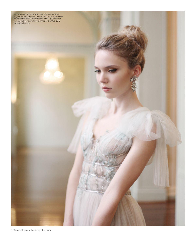 Dress by Marchesa, earrings by Dannijo.   Editorial   Pinterest ...