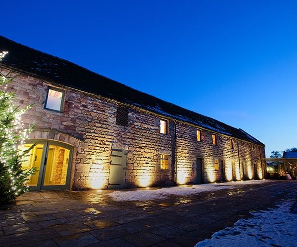 The Ashes Wedding Venue In Staffordshire At Night