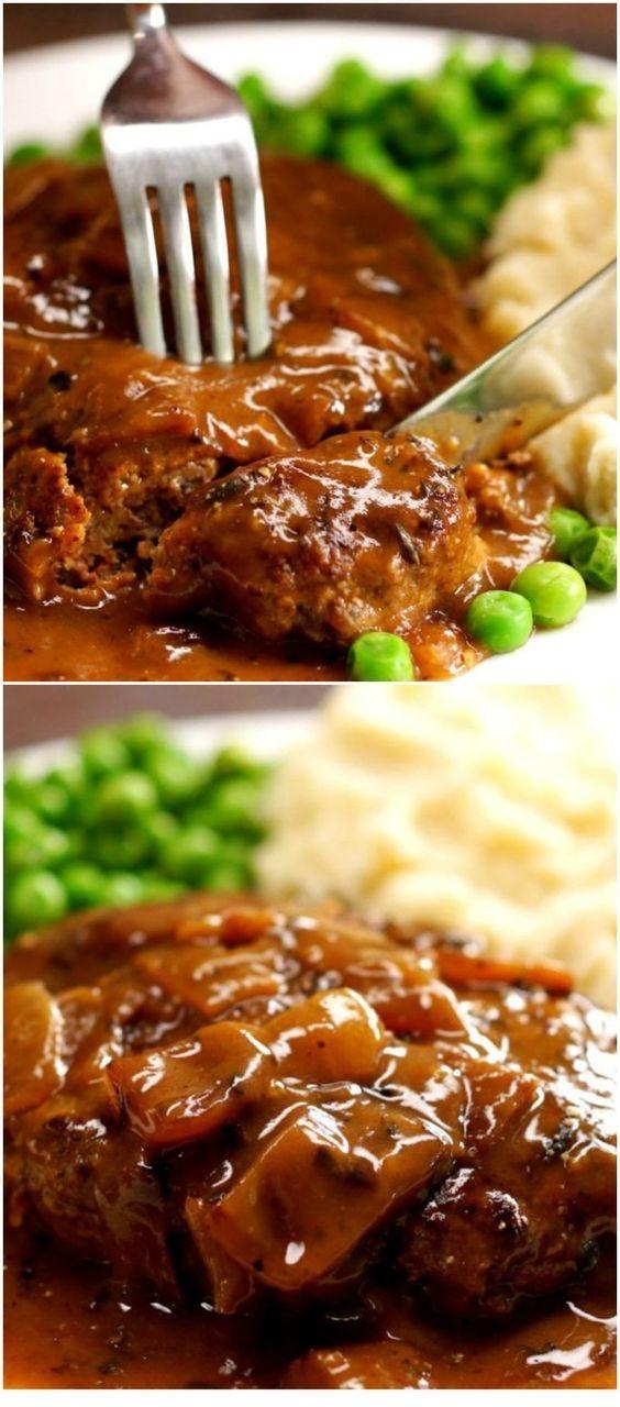 Grilled Steak Recipes  | Amazing Salisbury Steak Recipe #beefsteakrecipe