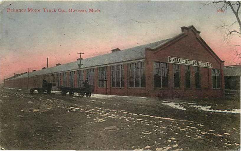 Postcard Reliance Motor Truck Company Owosso Michigan 1910