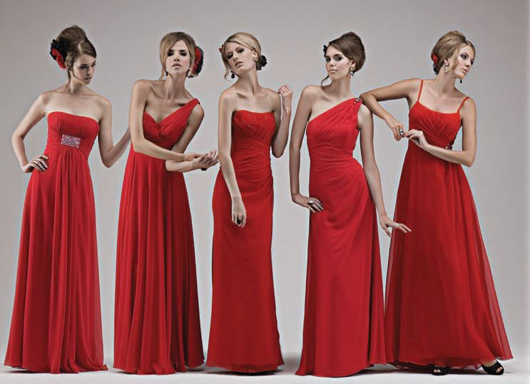 For Bridesmaids Modest And Elegant Typewarm Red Rose With Silk Fabrics Whether Or Chiffon Fabric Can Show The Best State Le