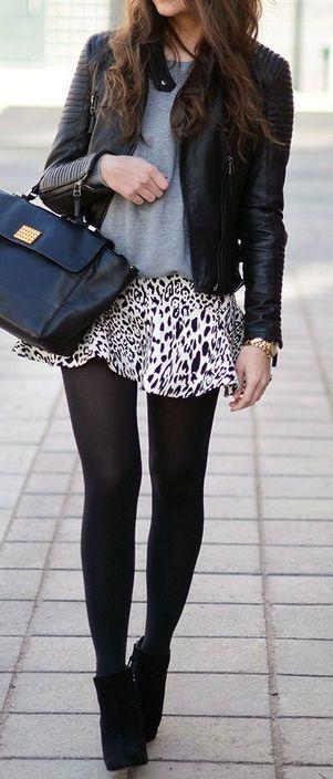falda-animal print