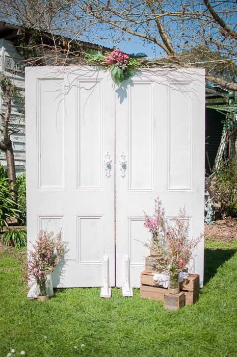 Vintage/shabby chic /classic white doors/wedding backdrop/ceremony/available for hir at mysweeteventhire .com.au