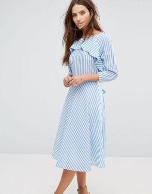 3b04dfc8e03 Y.A.S Nima Stripe Tie Detail Dress