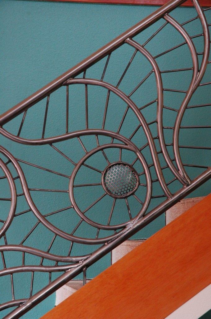 Deck Railing Ideas Metal Wood Glass More Pictures Wrought Iron Railing Metal Deck Railing Iron Railing