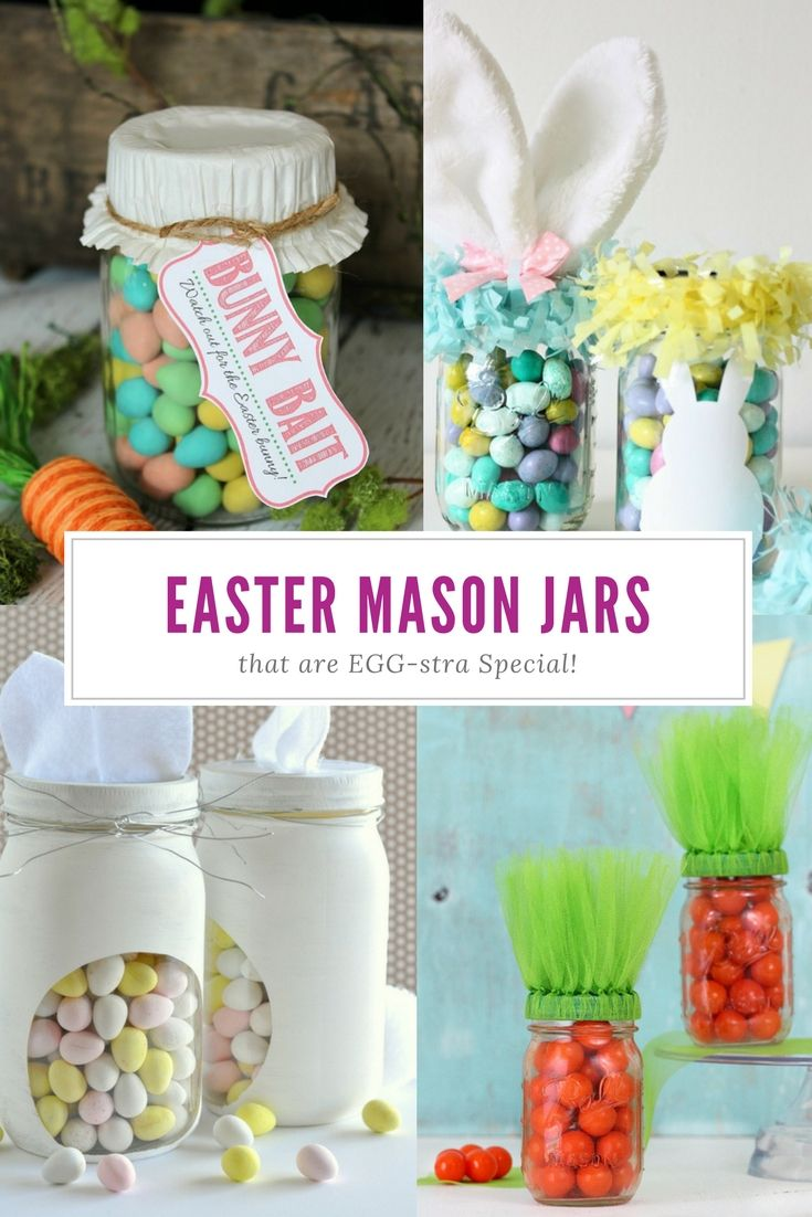 13 Mason Jar Crafts For Easter That Would Make The Easter Bunny Jealous Easy Easter Crafts Easter Mason Jars Easter Crafts