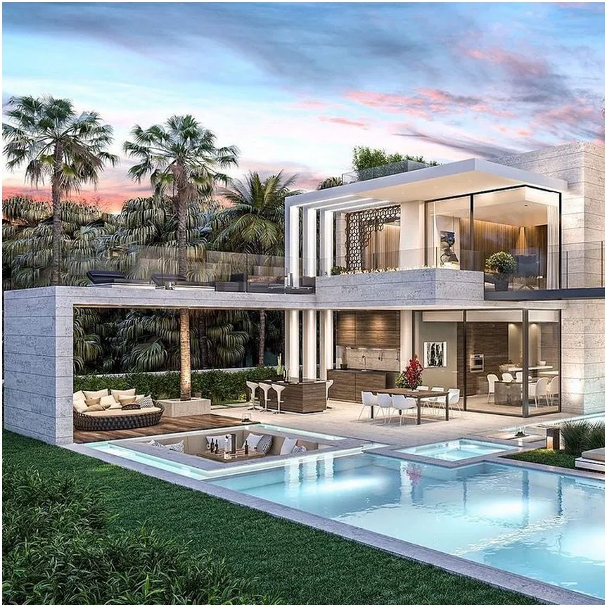 √ 52 the most beautiful houses with a pool design 17 #housedesign #swimmingpool #homepool – jilumpet.com