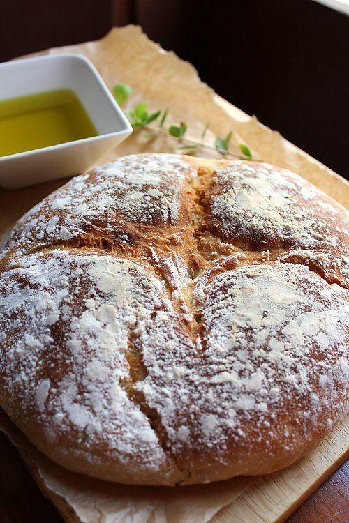 No Knead Bread @FoodBlogs