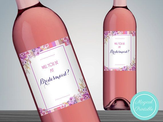 Will you be my Bridesmaid Wine Label Bridesmaid by BrideandBows