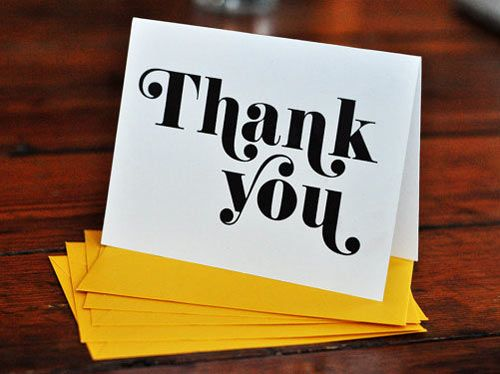 30+ Modern Thank You Cards Card ideas, Typography and Typo - thank you note
