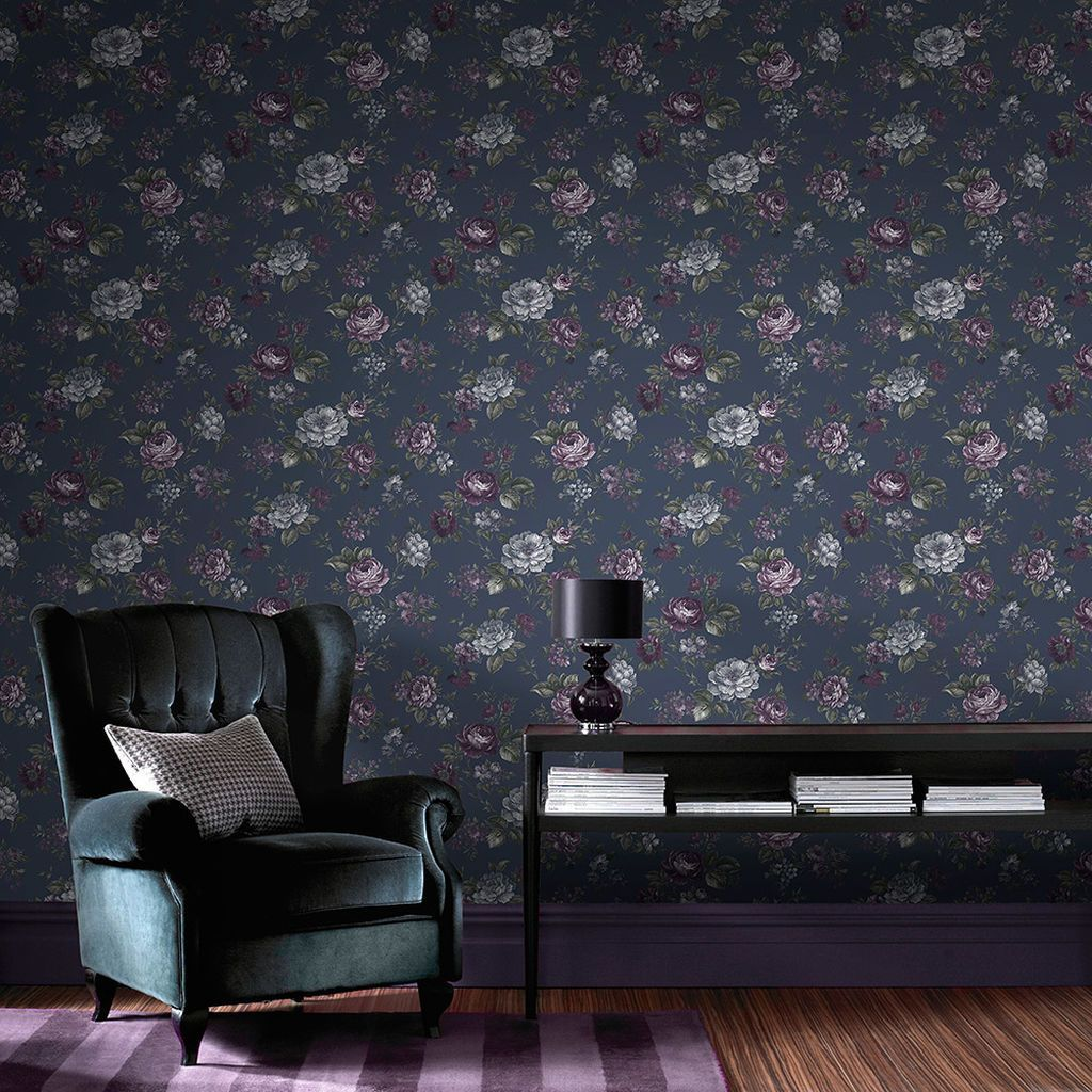 Graham & Brown Muse French Wallpaper White wall bedroom