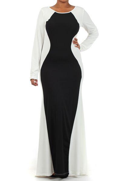 Shop Kami Shade' - Plus Size Red Carpet Pure White Long Sleeve Maxi Dress, $46.00 (http://www.kamishade.com/haute-plus-size-dresses-more/plus-size-red-carpet-pure-white-long-sleeve-maxi-dress/)