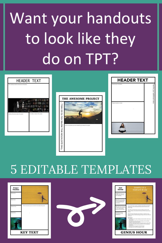 Editable Handout Templates For The Graphic Design Junkie Handouts Ela Lesson Plans Creative Lesson Plans