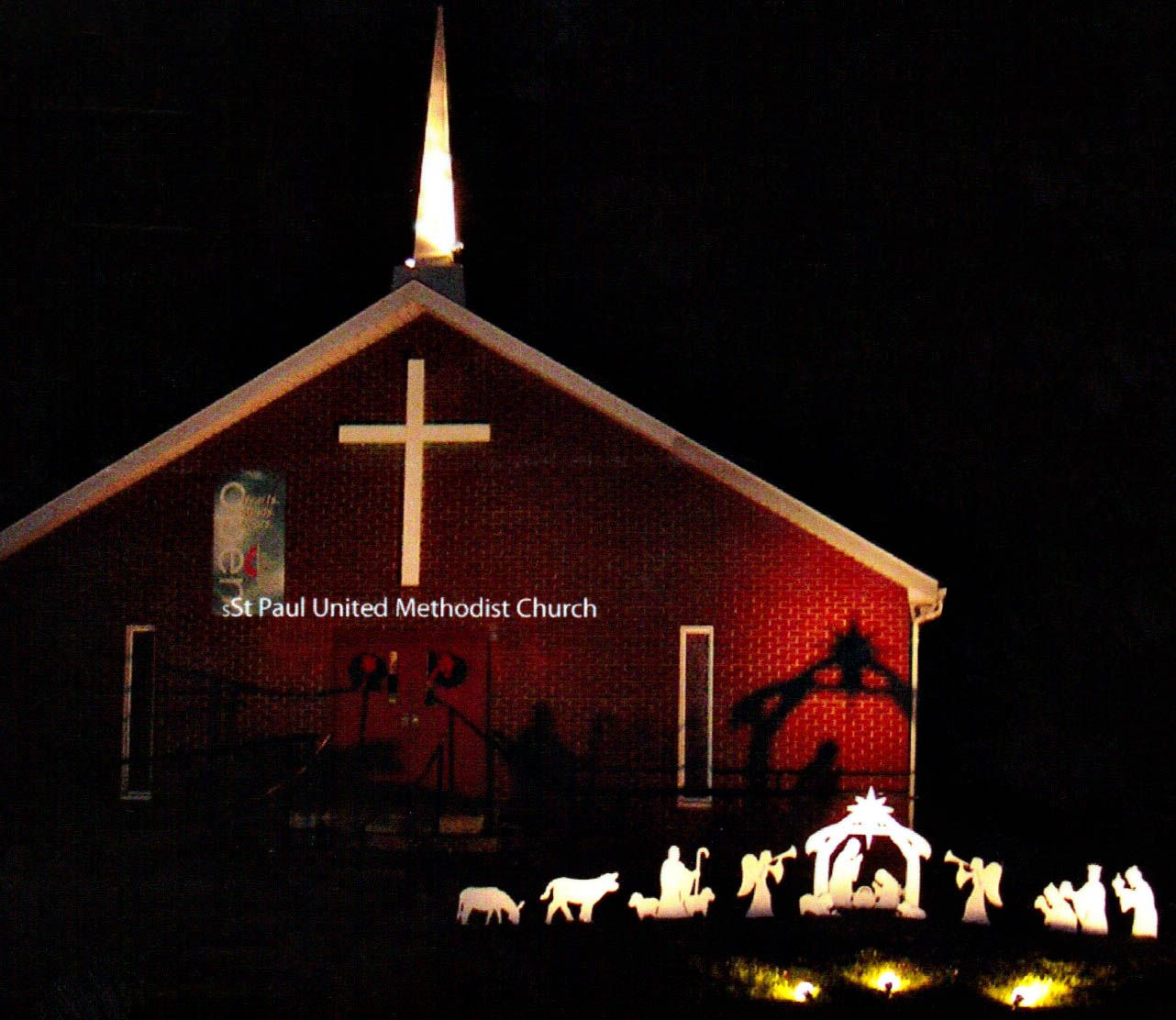 Our Large Nativity Set Is Perfect For Churches To Display During The Holidays Large Nativity Sets Nativity Set Methodist Church