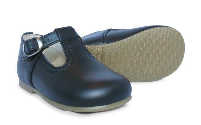 Boys Navy T Bar Shoe Tobias